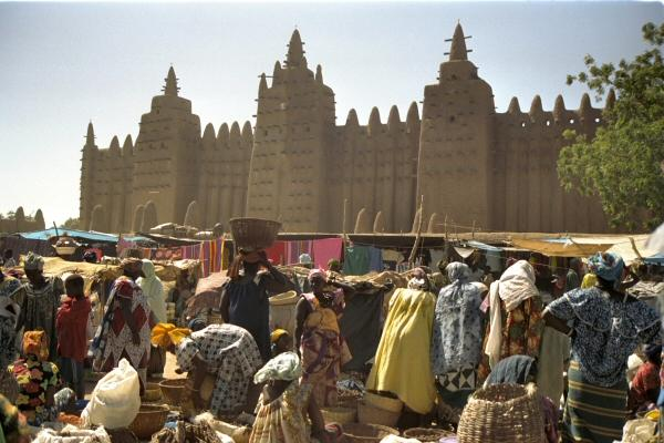 Grote moskee in Djenné