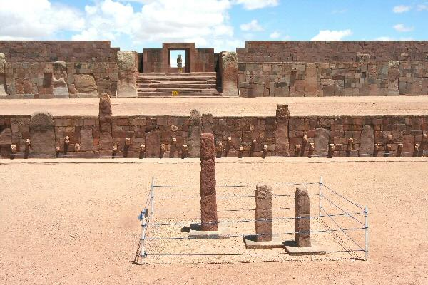Templete Subterráneo in Tiwanaku, Bolivia