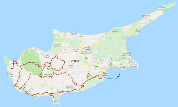Route Cyprus