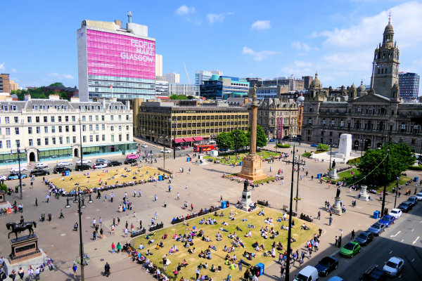 George Square in Glasgow, Schotland